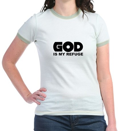 God's Refuge Jr. Ringer T-Shirt