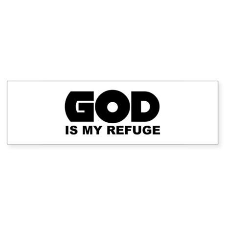 God's Refuge Bumper Sticker
