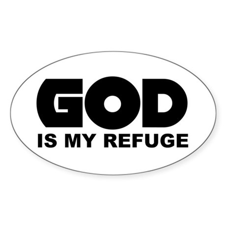God's Refuge Oval Sticker