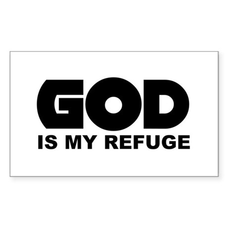 God's Refuge Rectangle Sticker