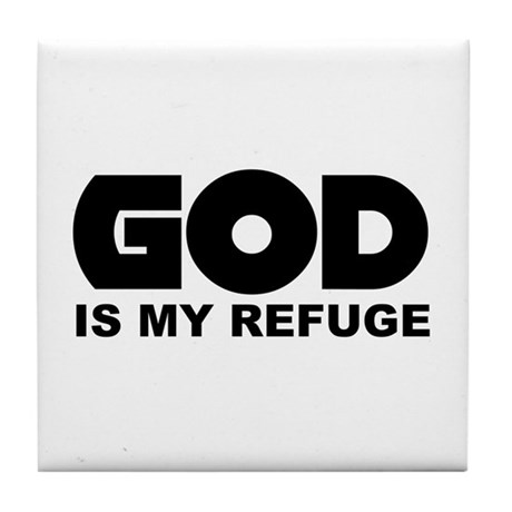 God's Refuge Tile Coaster