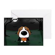 Beagle Vampire Halloween Greeting Card