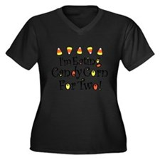 Candy Corn For Two Women's Plus Size V-Neck Dark T