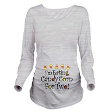 Candy Corn For Two Long Sleeve Maternity T-Shirt