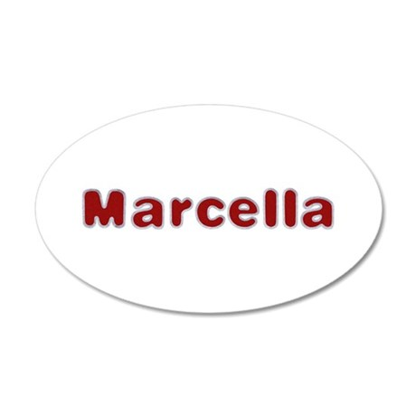 Marcella Santa Fur 35x21 Oval Wall Decal