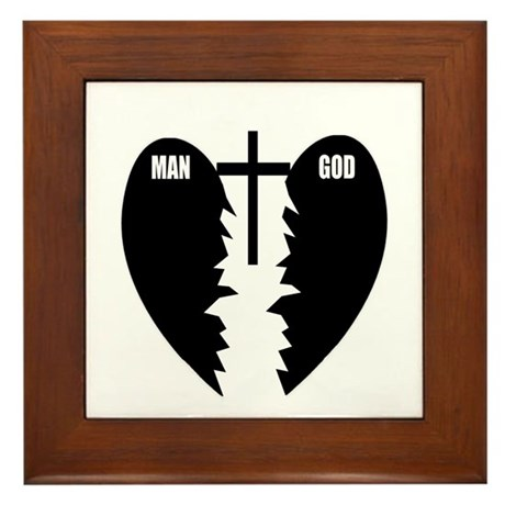 Jesus is the Bridge Framed Tile