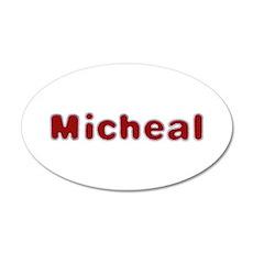 Micheal Santa Fur 35x21 Oval Wall Decal