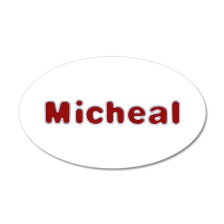 Micheal Santa Fur 20x12 Oval Wall Decal