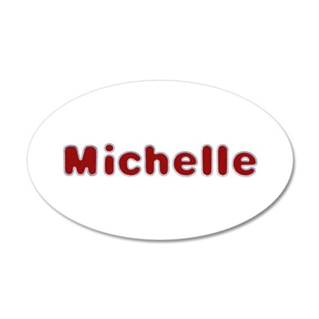 Michelle Santa Fur 20x12 Oval Wall Decal