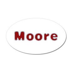 Moore Santa Fur 35x21 Oval Wall Decal