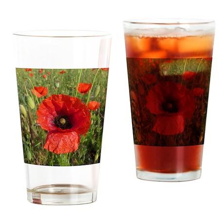 Red Riding Poppy Drinking Glass