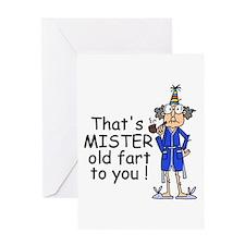 Mr. Old Fart Greeting Card