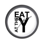 EAT AT THE Y Wall Clock