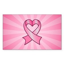 Breast Cancer Heart Ribbon Decal