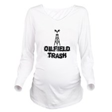 Oilfield Trash Long Sleeve Maternity T-Shirt