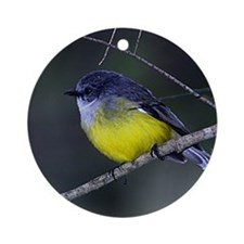 Yellow Robin Ornament (Round)