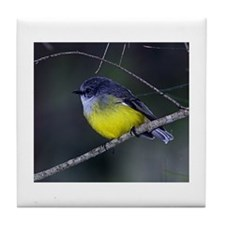 Yellow Robin Tile Coaster