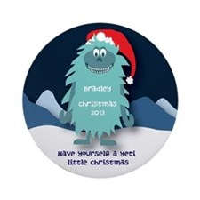 Personalized Yeti Christmas Ornament