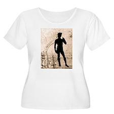David Shadow Sketch Plus Size T-Shirt