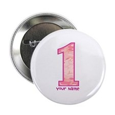 """1st Birthday Personalized Pink Camo 2.25"""" Button"""