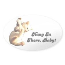 Hang In There Baby Oval Decal