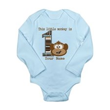 1st Birthday Monkey Personalized Baby Outfits