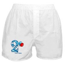 2nd Birthday Personalized Boxer Shorts