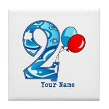 2nd Birthday Personalized Tile Coaster