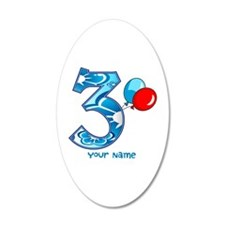 3rd Birthday Balloons Personalized Wall Decal