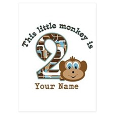 2nd Birthday Monkey Personalized Invitations