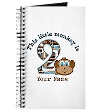 2nd Birthday Monkey Personalized Journal