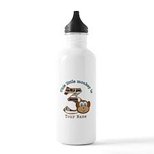 3rd Monkey Birthday Personalized Water Bottle