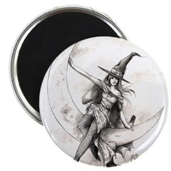 "Moon Witch 2.25"" Magnet (10 pack)"