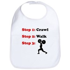 Crawl Walk Weightlifting Bib