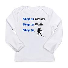 Crawl Walk Skiing Long Sleeve T-Shirt