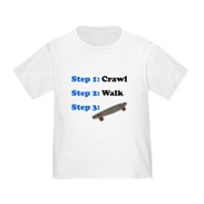Crawl Walk Skateboarding T-Shirt