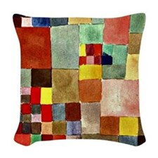 Paul Klee - Flora on Sand Woven Throw Pillow