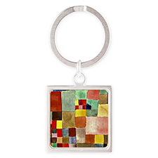 Paul Klee - Flora on Sand Square Keychain
