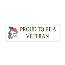 Proud To Be A Veteran Car Magnet 10 x 3
