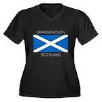 Grangemouth Scotland Women's Plus Size V-Neck Dark