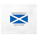 Grangemouth Scotland King Duvet