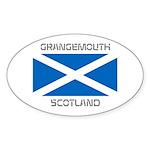 Grangemouth Scotland Sticker (Oval)