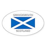 Grangemouth Scotland Sticker (Oval 10 pk)