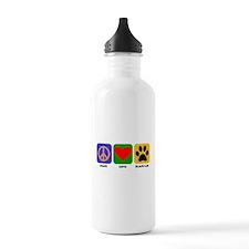 Peace Love Black Lab Water Bottle