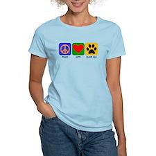 Peace Love Black Lab T-Shirt