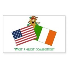 IRISH AMERICAN Rectangle Decal