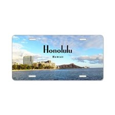 Honolulu Aluminum License Plate