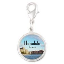 Honolulu Silver Round Charm