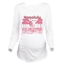 Honolulu Long Sleeve Maternity T-Shirt