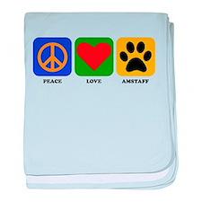 Peace Love AmStaff baby blanket